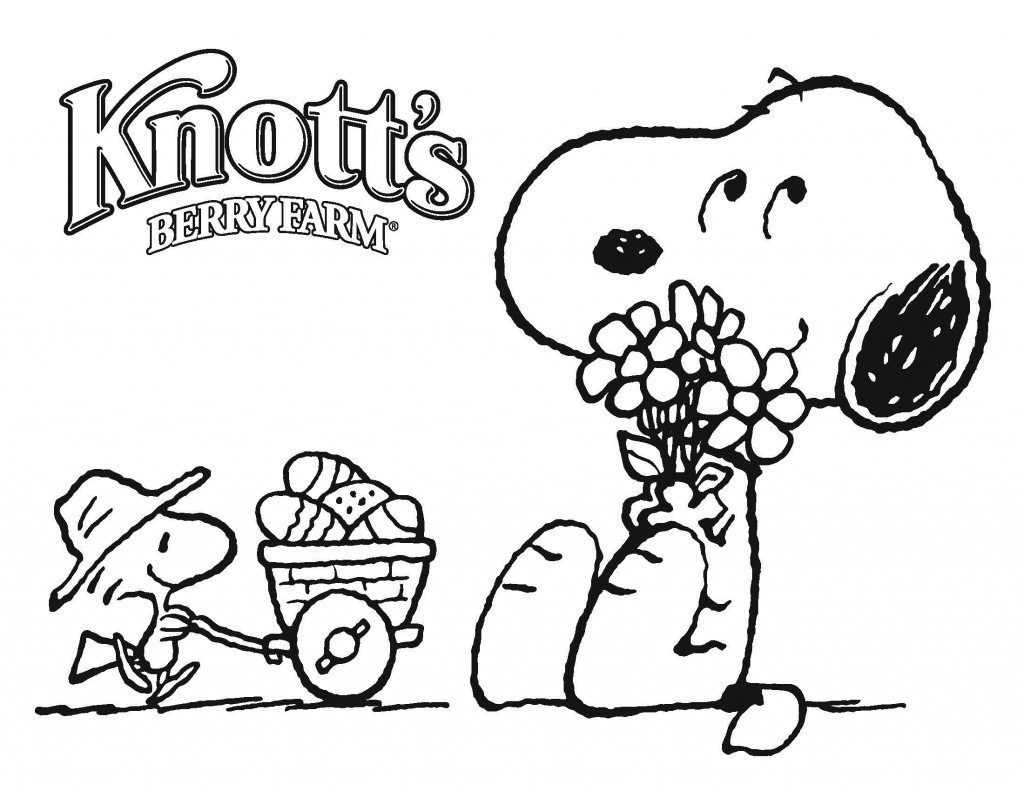 Free Snoopy Coloring Pages