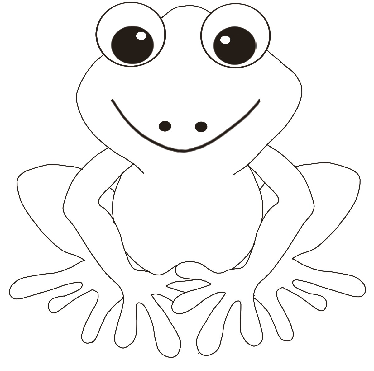 Free printable frog coloring pages for kids for Frog finger puppet template