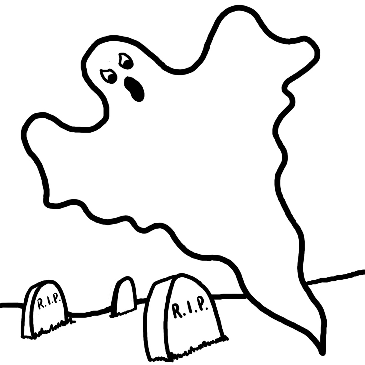 Pictures to color in - Ghost Coloring Pages Printable