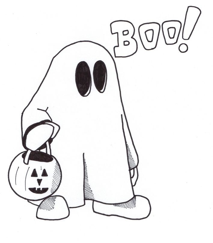 coloring pages pumpkins and ghosts - photo#31