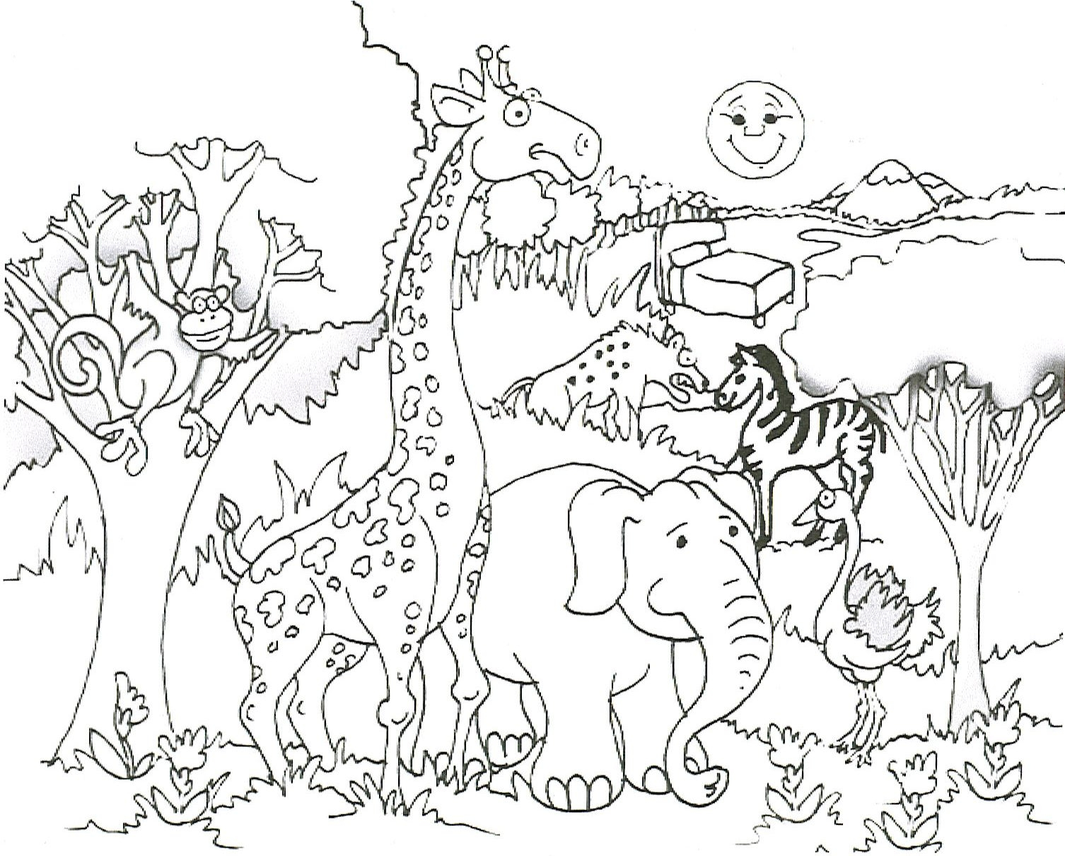 Free printable giraffe coloring pages for kids for Coloring pages of wild animals