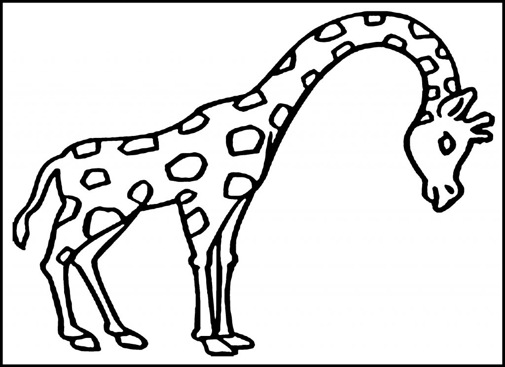 Giraffe Coloring Page for Kids Photo