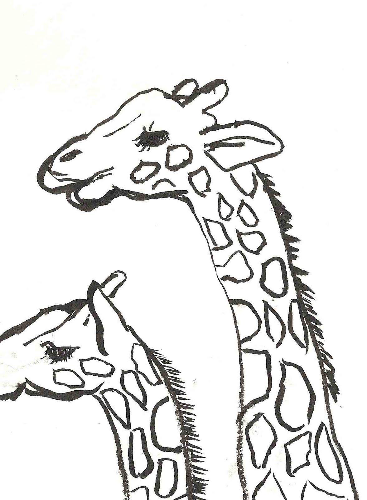 Pics For Gt Baby Giraffe Sketch