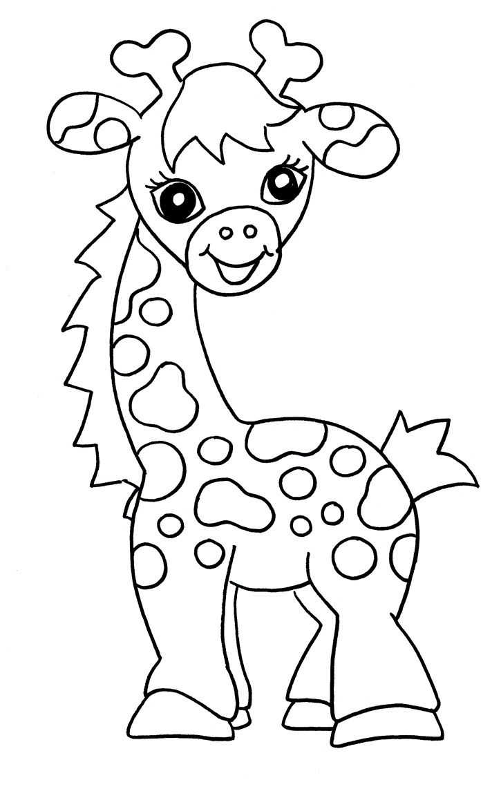 giraffe coloring pages for kids - Colouring In Kids