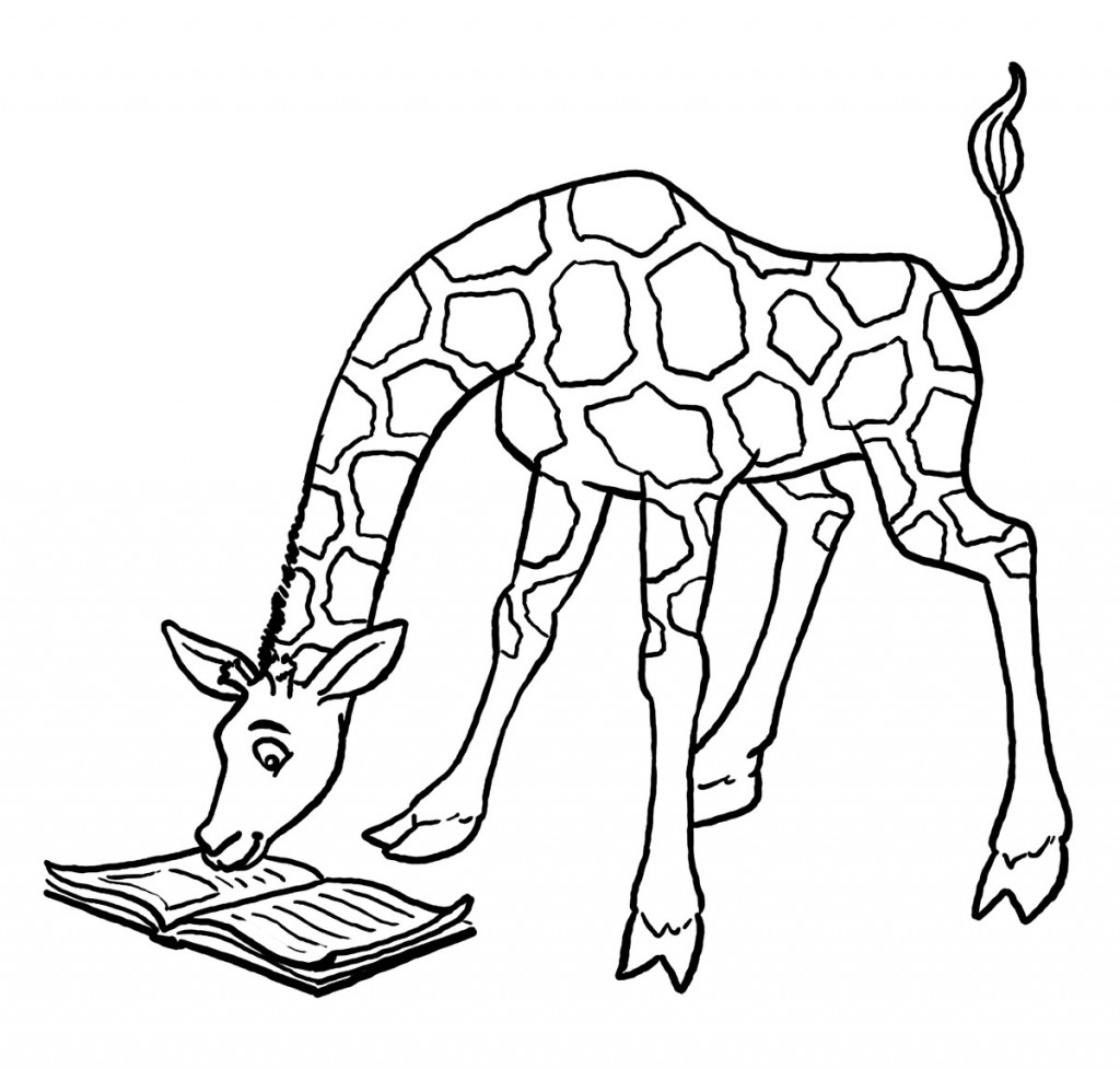 Giraffe Coloring Pages Pictures