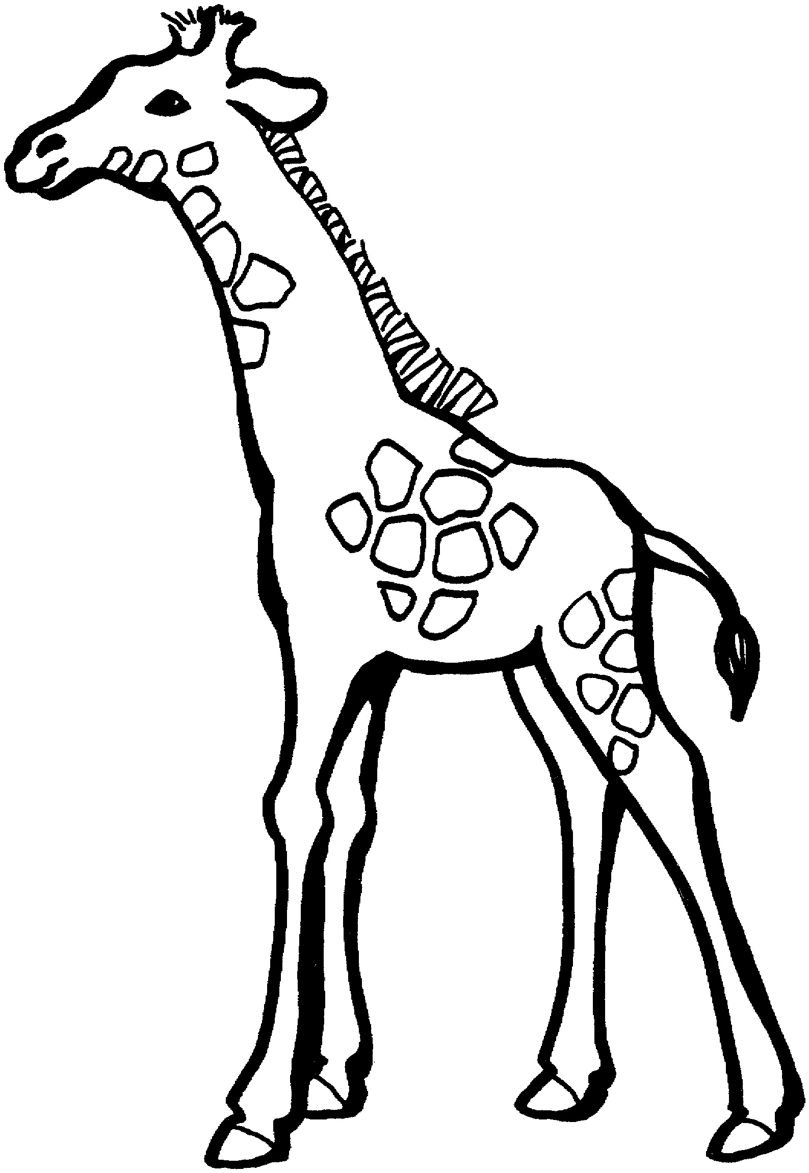 free giraffe coloring pages - photo#17