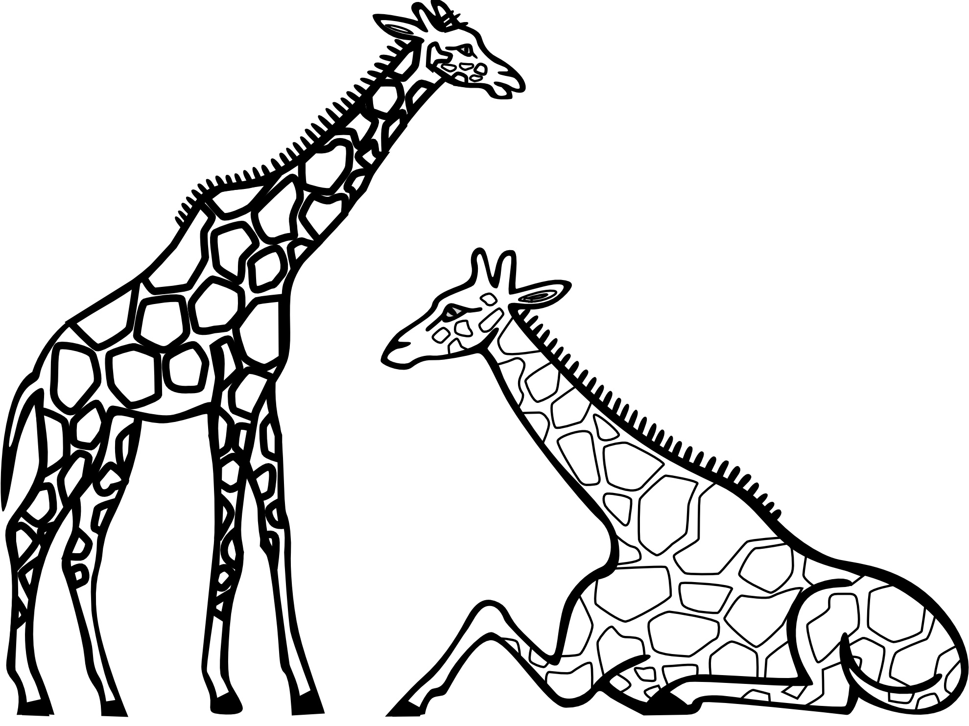 giraffe coloring pages to print - Giraffes Coloring Pages