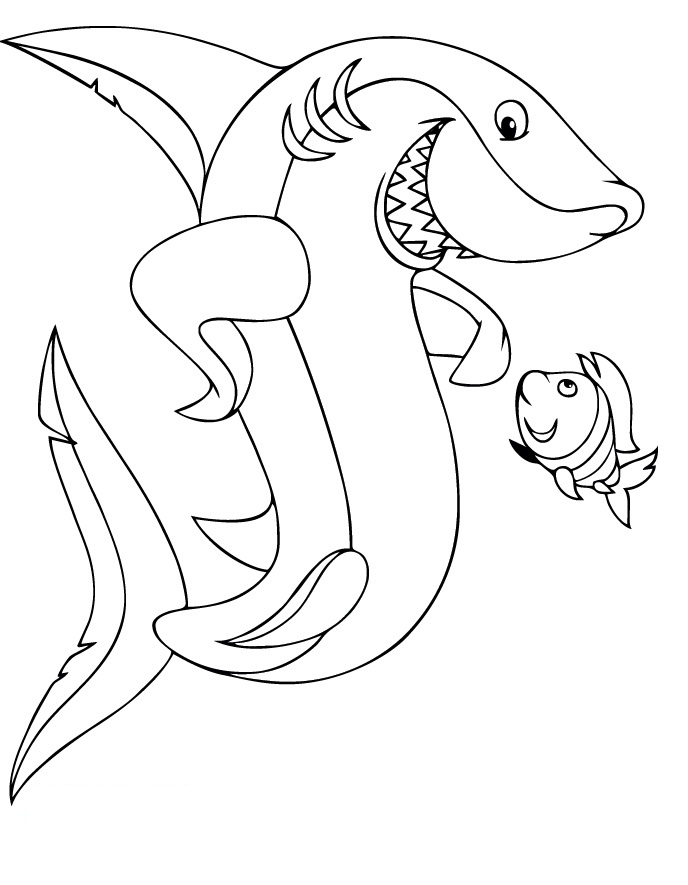 sharks coloring pages - photo#21