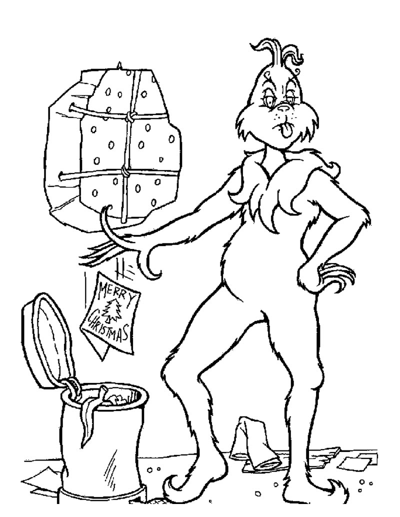 Coloring pages for christmas - Grinch Coloring Pages Images
