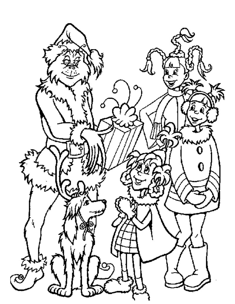 Grinch Coloring Pages Photos