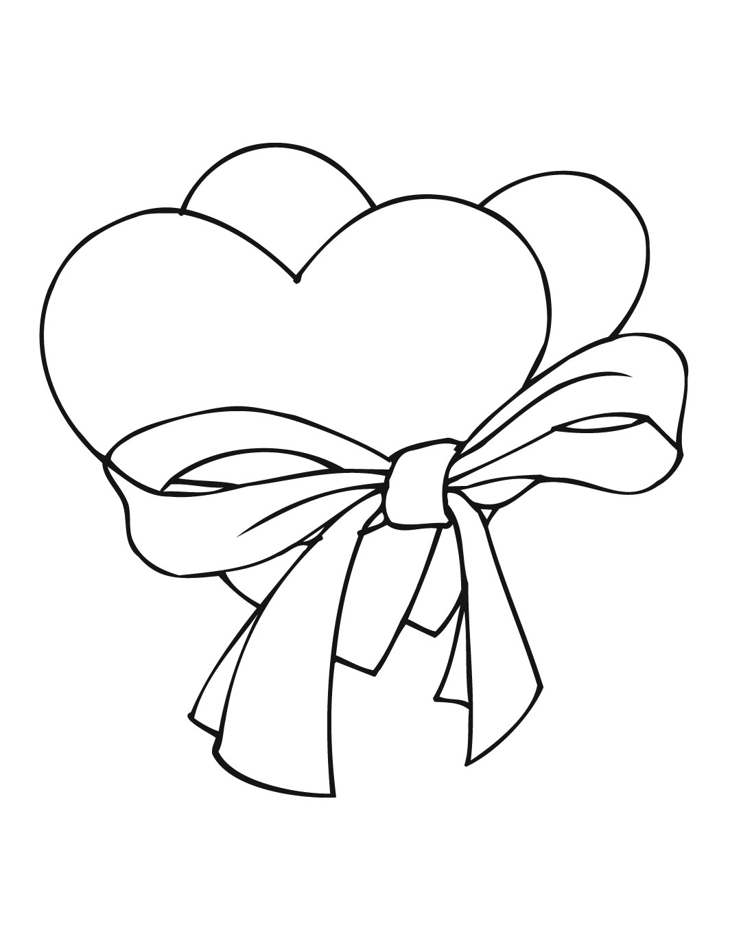 the heart coloring pages - photo #35