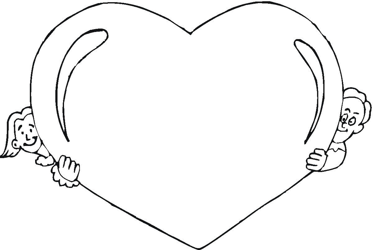 the heart coloring pages - photo #13