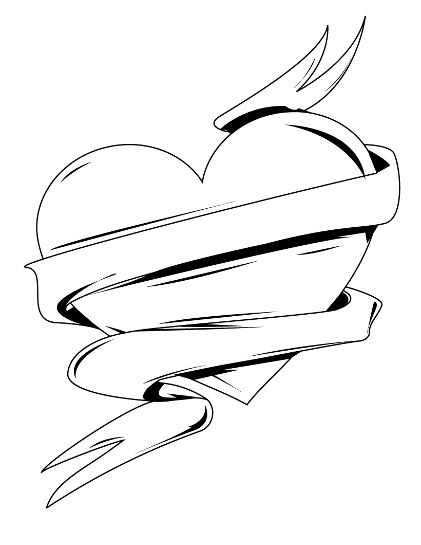 the heart coloring pages - photo #16