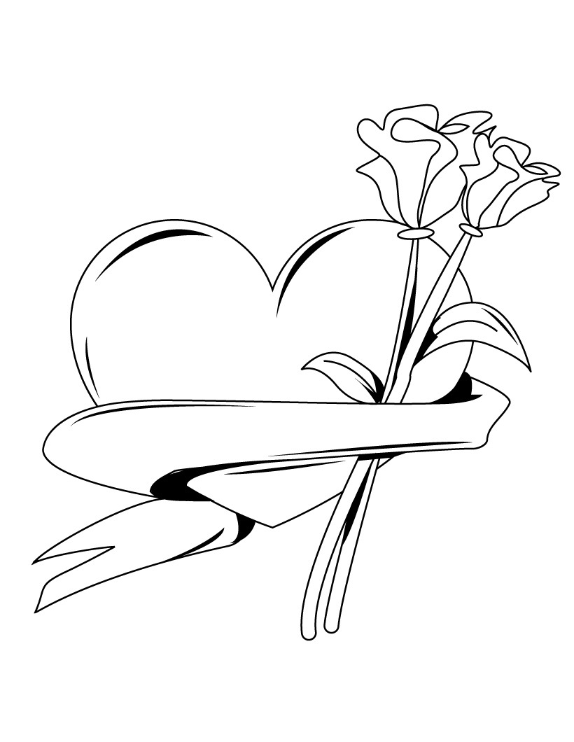 hearts page - Coloring Pages Hearts 2