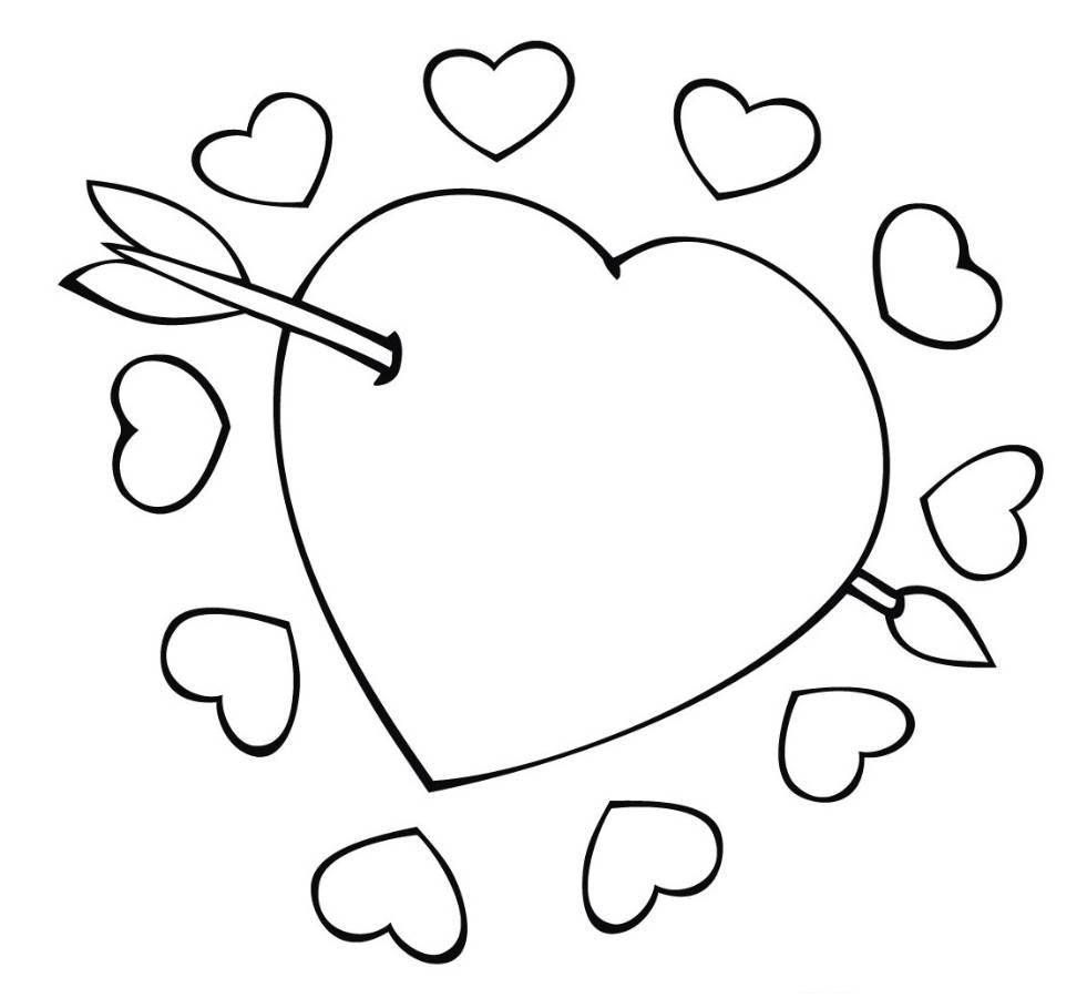 Printable coloring pages love - Hearts Printable Coloring Pages
