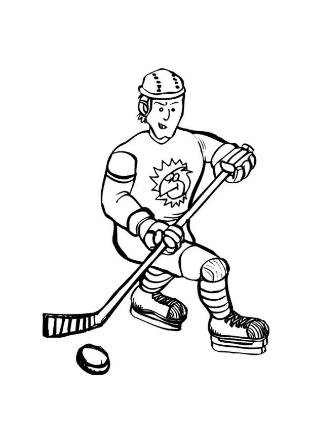 hockey coloring pages for kids - photo#30