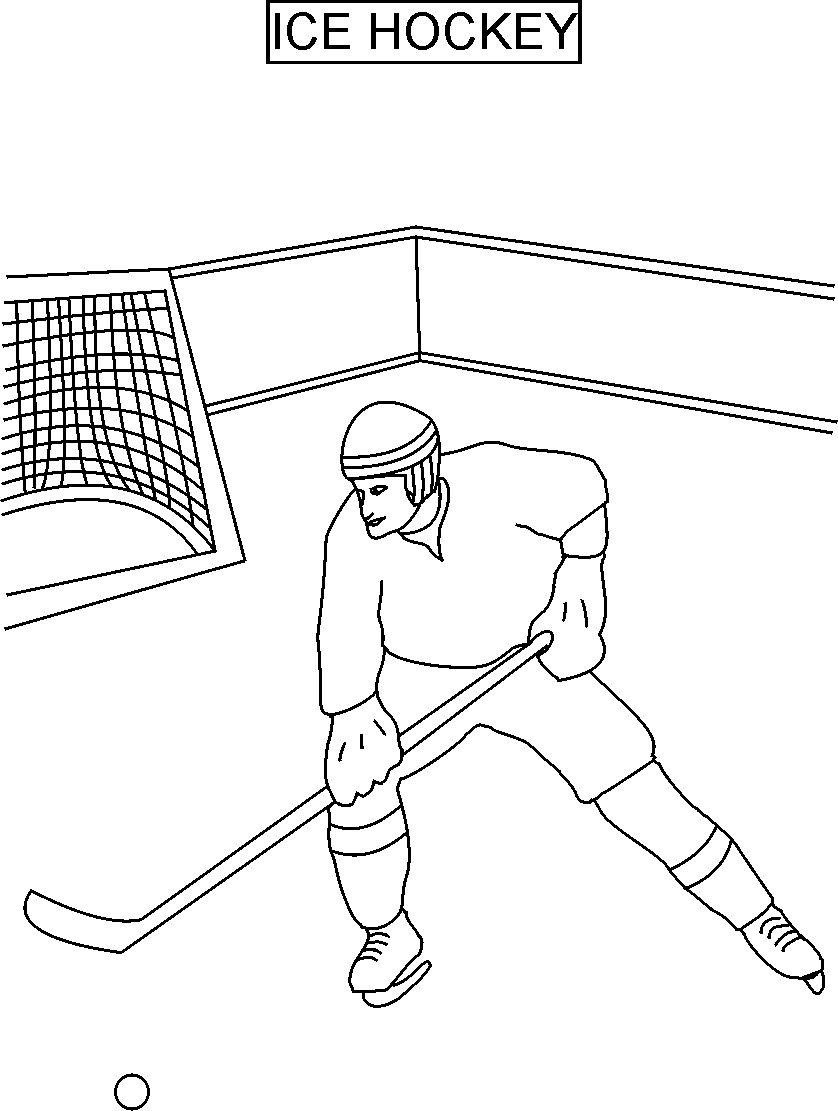 Free Printable Hockey Coloring