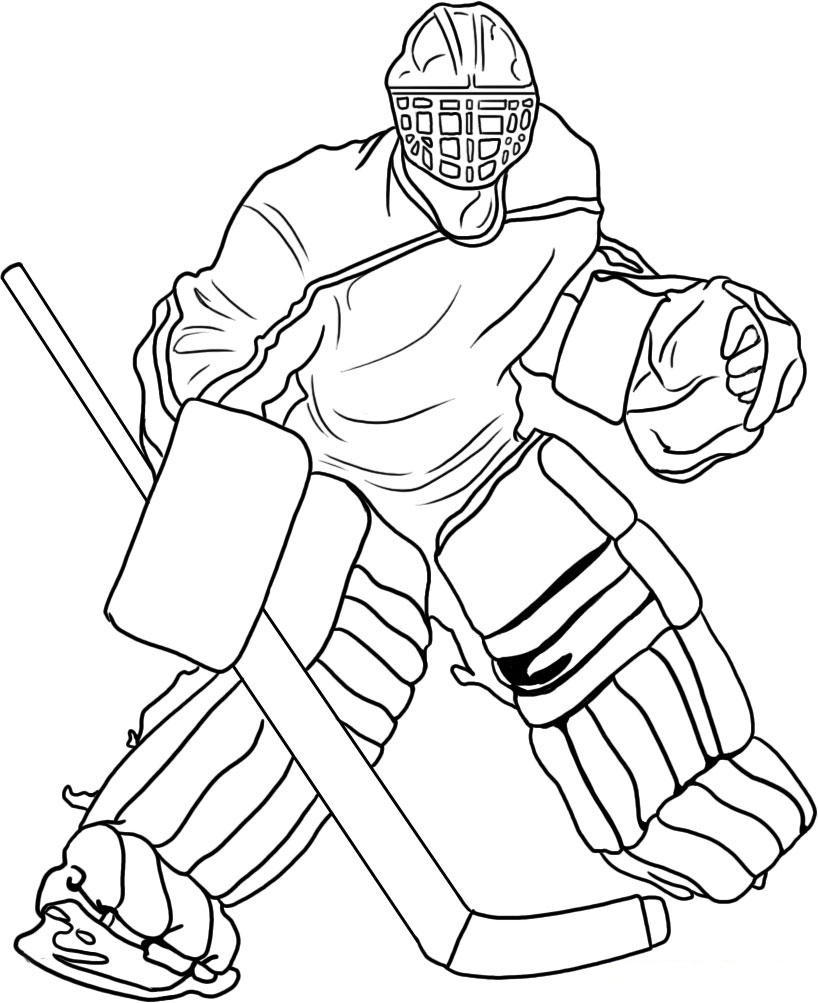 Free printable hockey coloring pages for kids for Ice hockey coloring pages