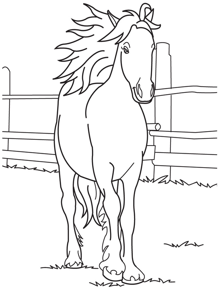 coloring book pages of horses - photo#35