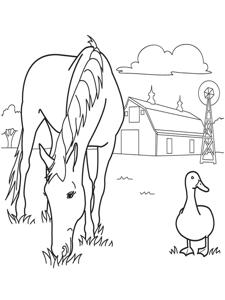 Horses Coloring Pages For Kids