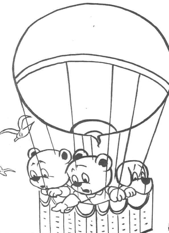 Hot Air Balloon Coloring Page Photos