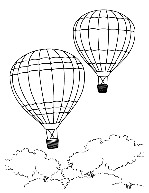 hot air balloon coloring pages for kids