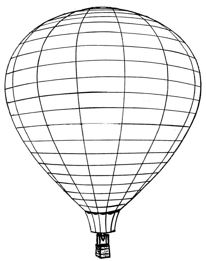 Hot Air Balloon Coloring Pages Free