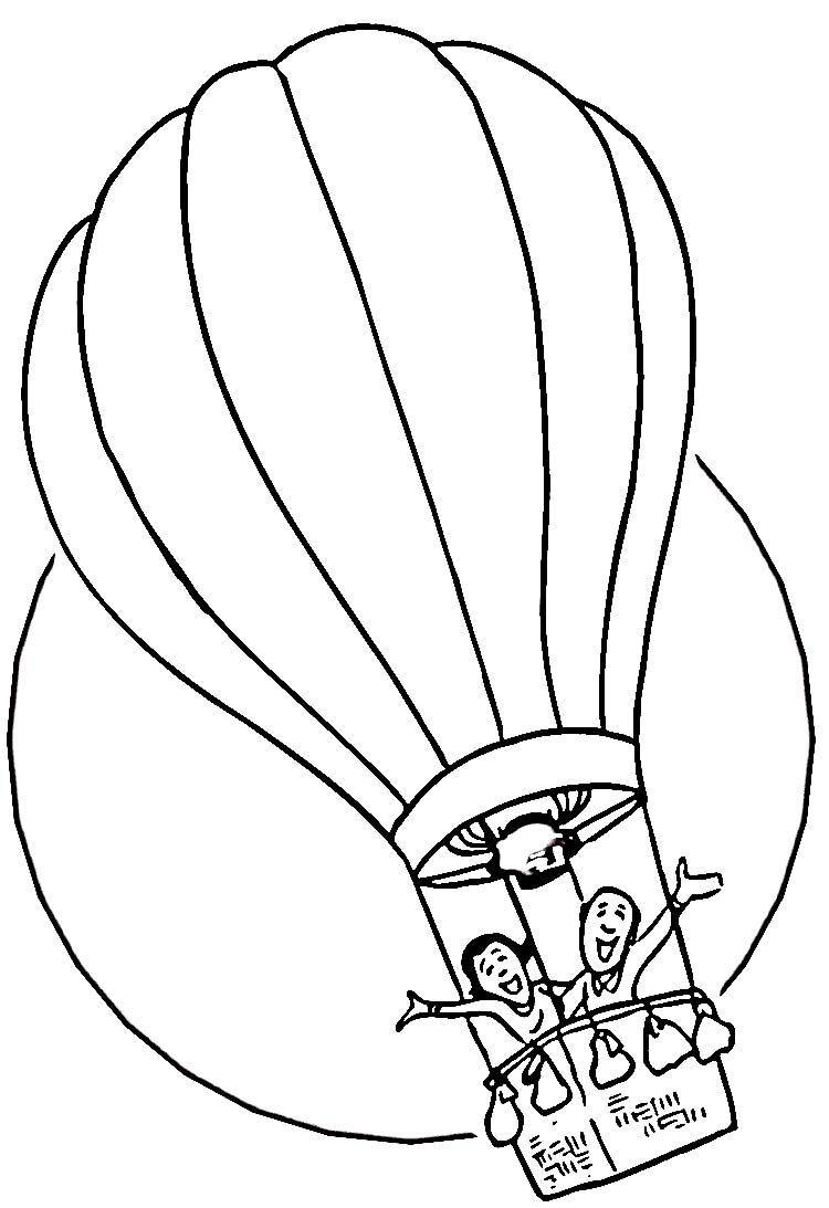 hot air balloon coloring pages kids