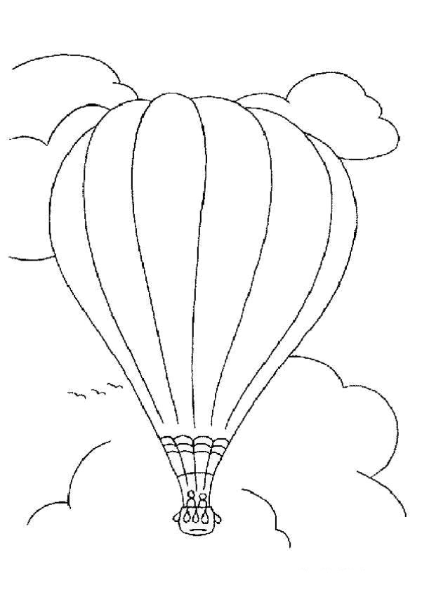 Hot Air Balloon Coloring Pages Pictures