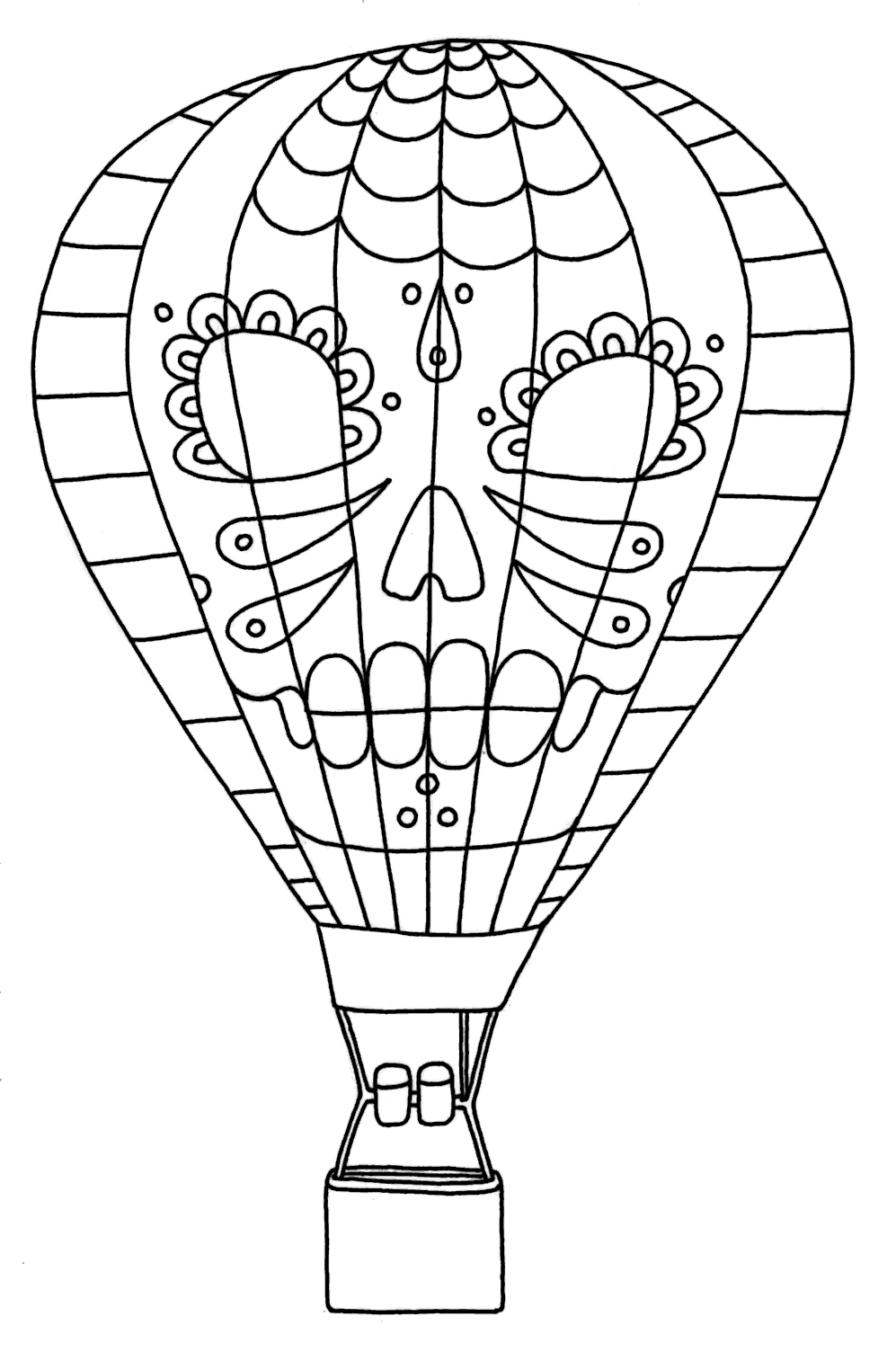 Clip Art Hot Air Balloon Color Page free printable hot air balloon coloring pages for kids pages