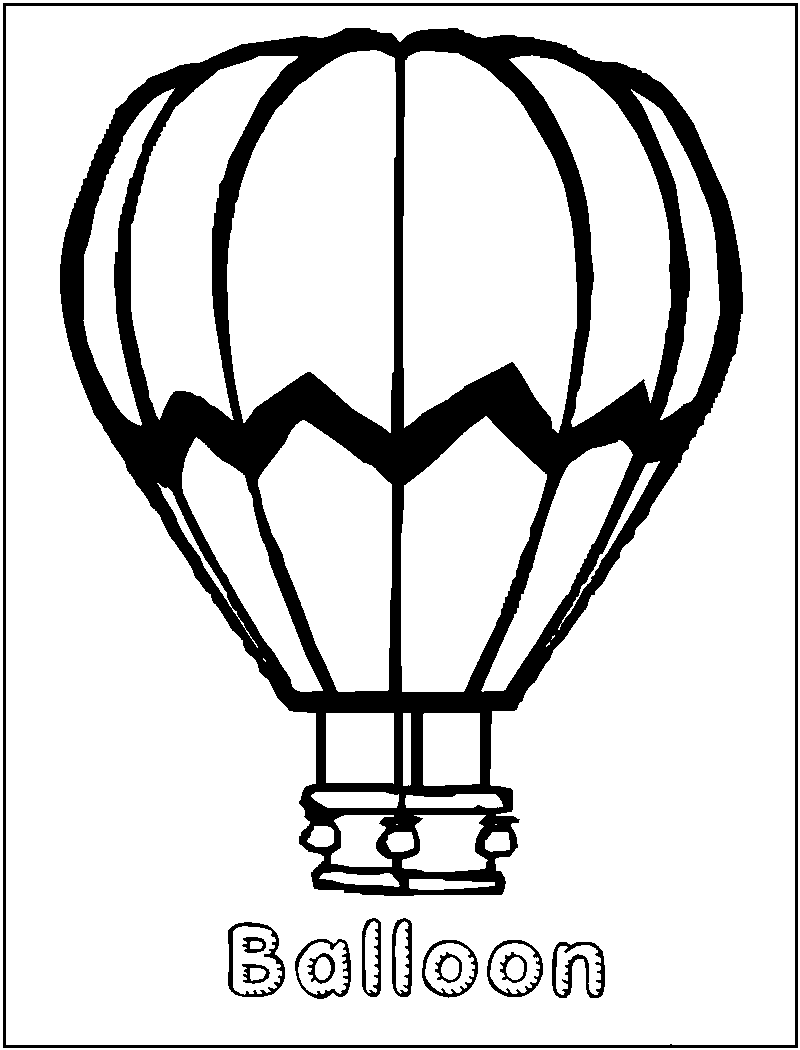 free printable hot air balloon coloring pages for kids - Hot Air Balloon Pictures Color