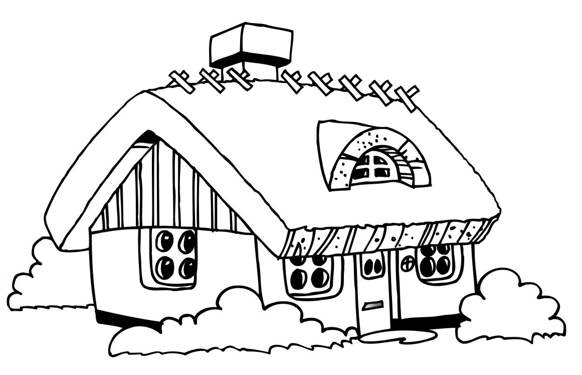 House coloring pages images