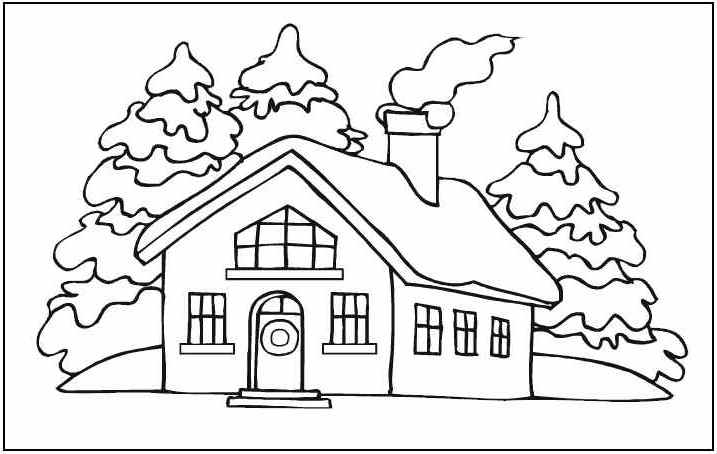 House Coloring Pages Photos