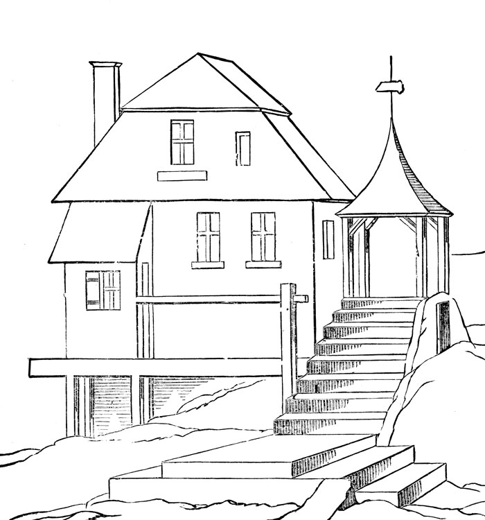 House Coloring Pages To Printable