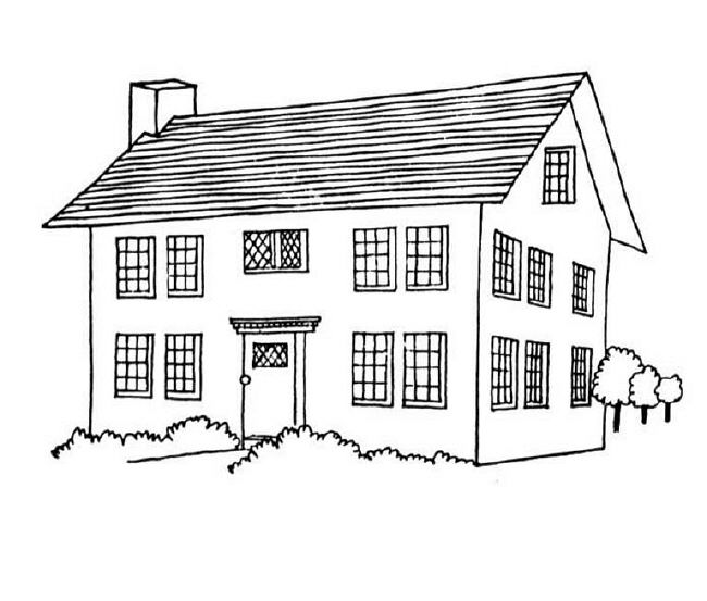Color For Houses Magnificent Of House Coloring Pages Picture