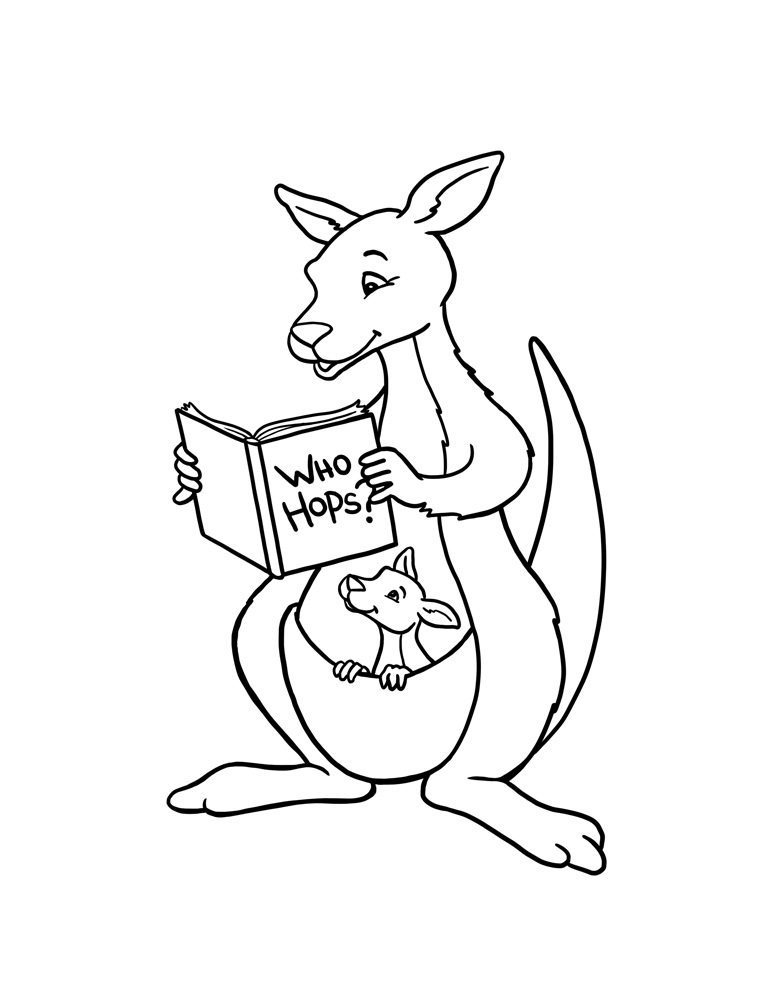 Images of Kangaroo Coloring Pages