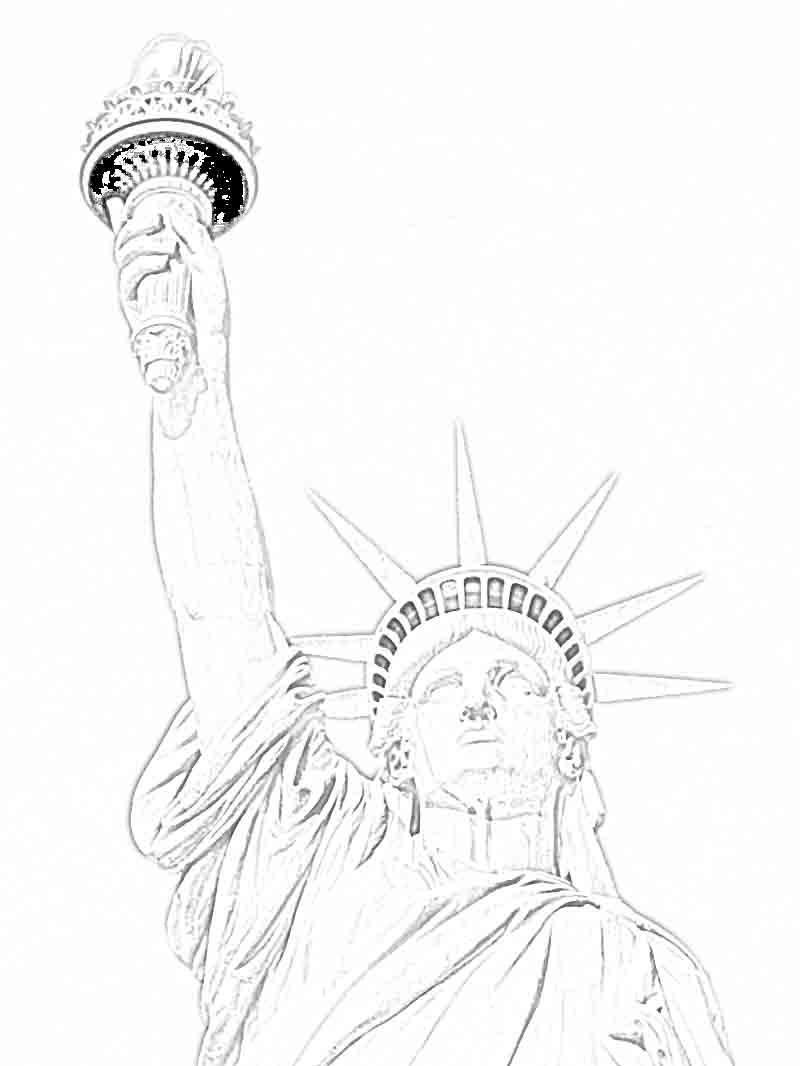 Images Of Statue Liberty Coloring Pages