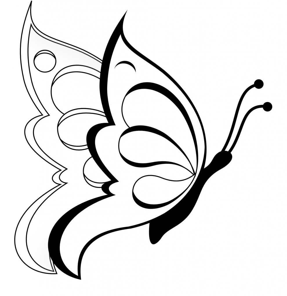 Kids Butterfly Coloring Pages