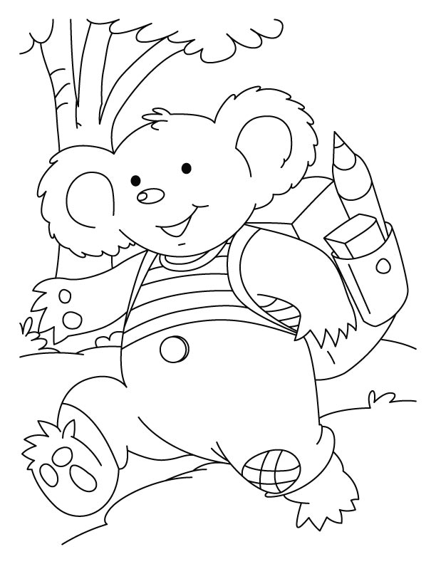 kids koala coloring pages - School Colouring In
