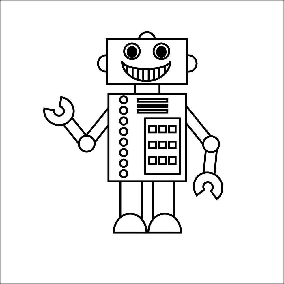 kids robot coloring pages - Coloring Printouts