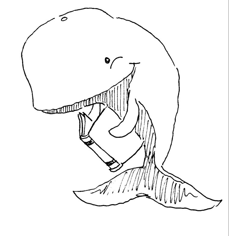 whale coloring book pages - photo#26