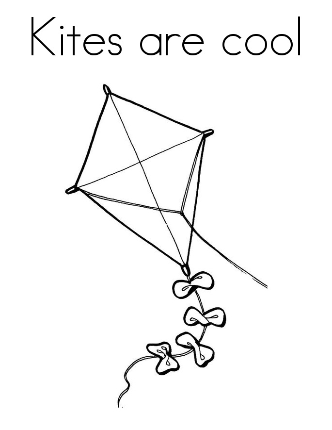 Kite Coloring Page Photos