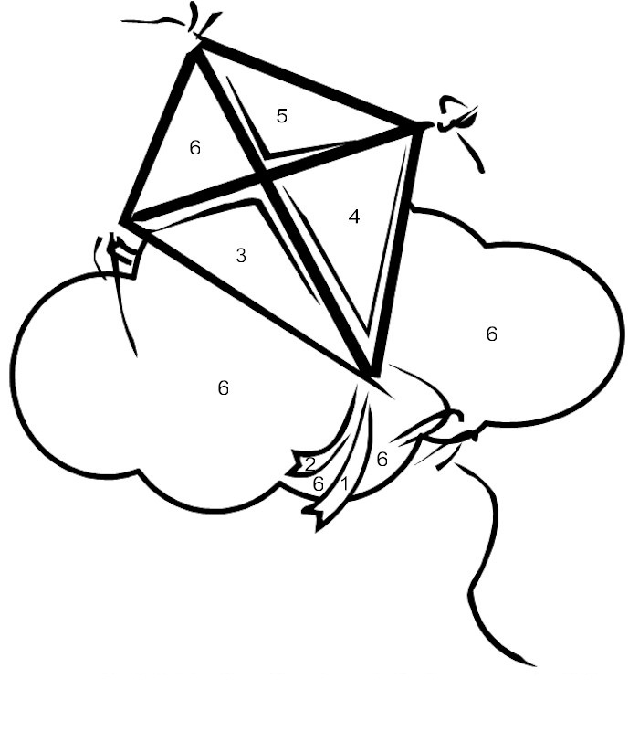 Kite Coloring Page Pictures