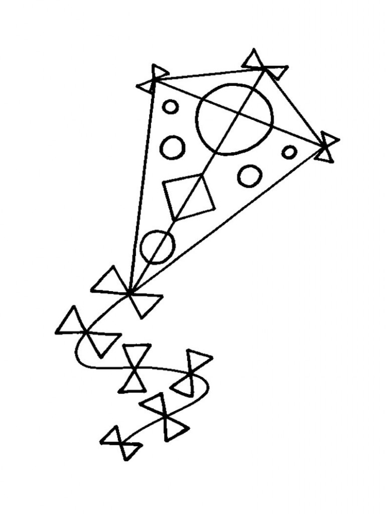 Free printable kite coloring pages for kids for Coloring book pages free