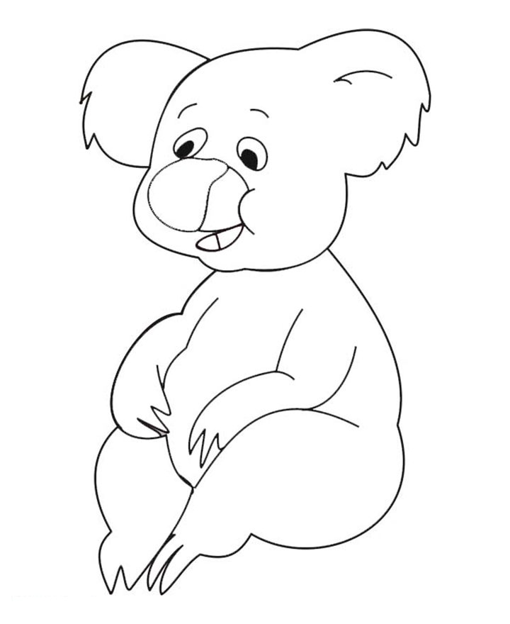 k is for koala bear coloring pages - photo #28