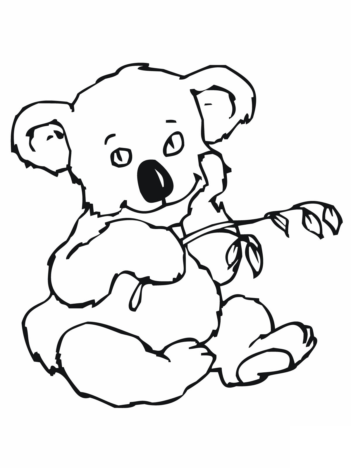 k is for koala bear coloring pages - photo #19