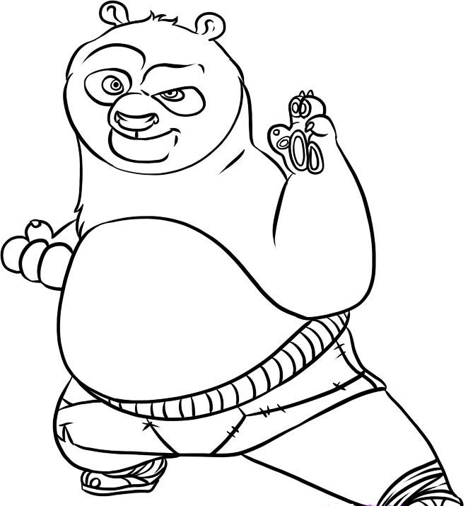 Free Printable Kung Fu Panda Coloring Pages For Kids