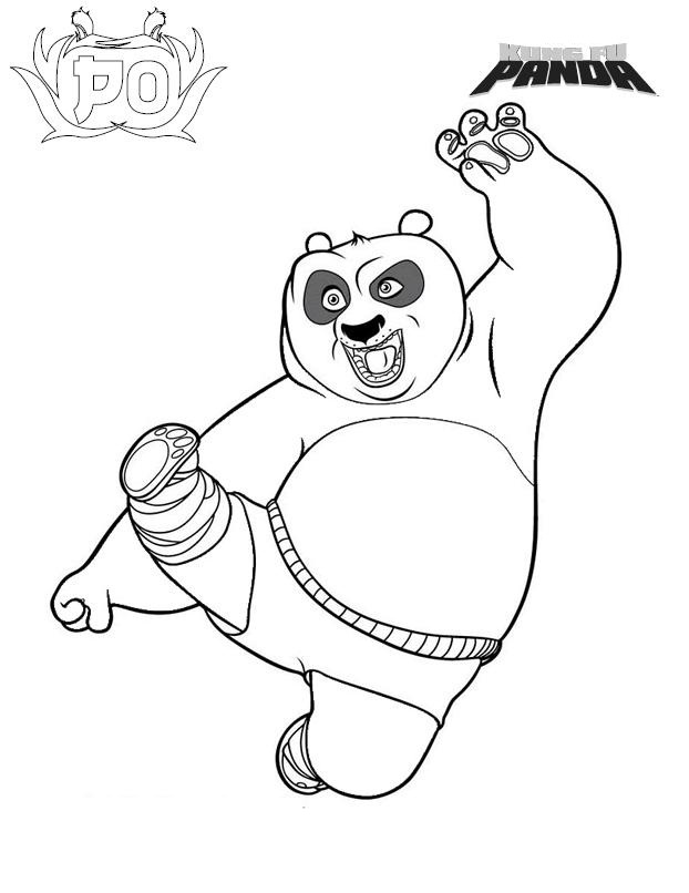 Free printable kung fu panda coloring pages for kids for Coloring pages panda
