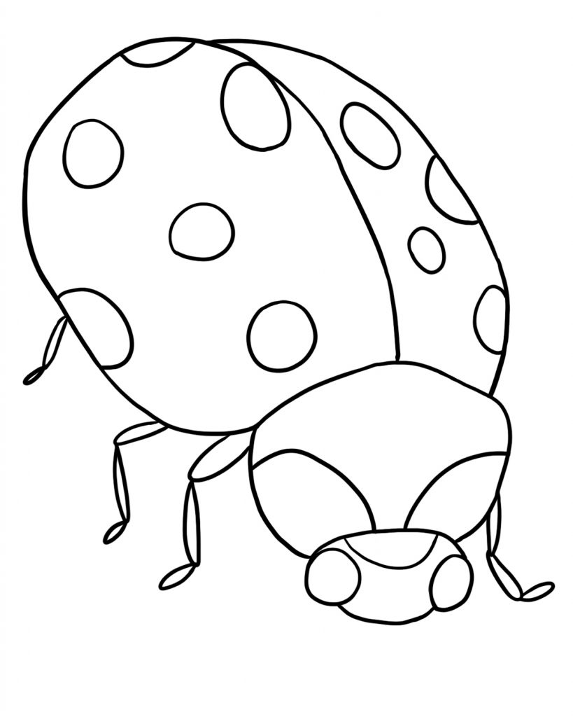 Free printable ladybug coloring pages for kids for Fun coloring pages for kids