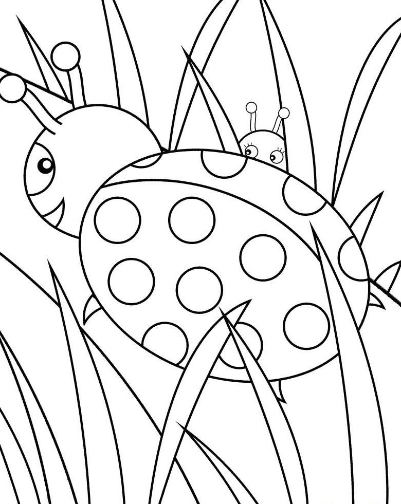 Colouring Pages To Print For Free : Free printable ladybug coloring pages for kids